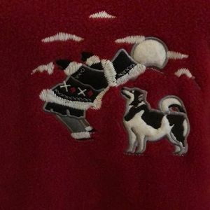Northern Reflections Sweaters - NWT Women's XXL Red Fleece Siberian Husky Shirt